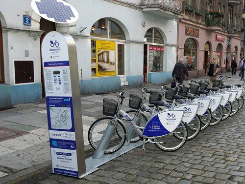 аренда велосипеда в терминале Вроцлав