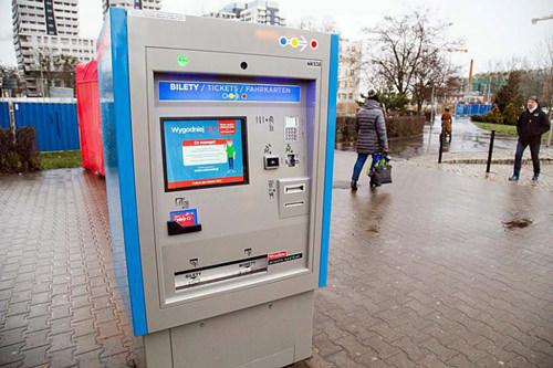 билетомат в Польше для покупки билета