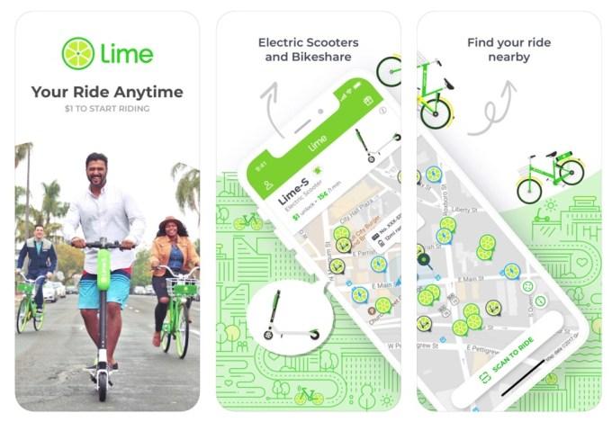 приложение Lime - Your Ride Anytime